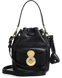 Ralph Lauren Collection Small Drawstring Shoulder Bag black - Lyst