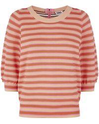 Sonia by Sonia Rykiel Zip Back Ribbed Sweater - Lyst