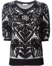 Chloé Flower Jacquard Sweater - Lyst