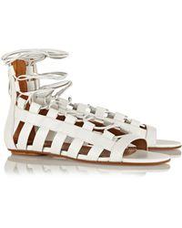 Aquazzura Amazon Leather Sandals - Lyst