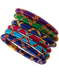 Rosena Sammi - Set Of 6 Monsoon Ribbon Bangles - Lyst