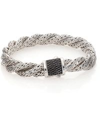 John Hardy | Classic Chain Black Sapphire & Sterling Silver Medium Twisted Bracelet | Lyst