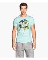 H&M T-Shirt With A Print - Lyst