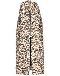 Carven Woolblend Skirt - Lyst
