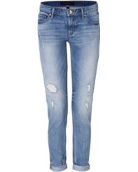 Juicy Couture Straight Leg Rolled Cuff Jeans - Lyst