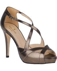 Kate Spade Get Evening Pump Pewter Leather - Lyst