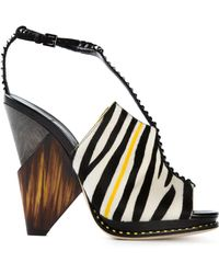 Jimmy Choo Multicolor Kascade Sandals - Lyst