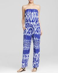 Tommy Bahama Tie Dye Strapless Jumpsuit Swim Cover Up - Lyst