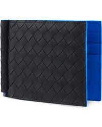 Bottega Veneta Woven Leather Moneyclip - Lyst