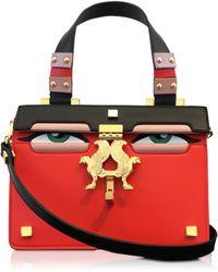 Giancarlo Petriglia - Mini Peggy Red Brushed Leather Eyes Bag - Lyst