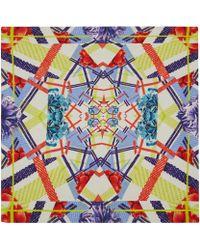 Teatum Jones - Multicolour Check and Floral Print Silk Scarf - Lyst