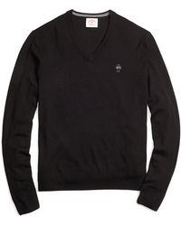 Brooks Brothers Merino Wool V-Neck Sweater - Lyst
