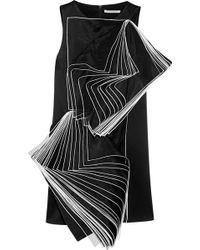 Christopher Kane Layered Silk Organza Paneled Satin Mini Dress - Lyst