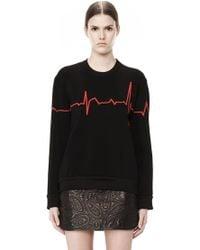 Alexander Wang Heartbeat Crewneck Pullover - Lyst