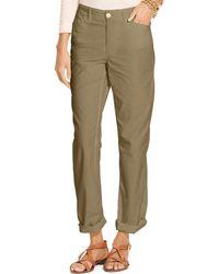 Ralph Lauren Lauren Cotton Chino Pants green - Lyst