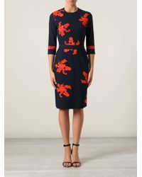 Preen Helena Embroidered Dress - Lyst