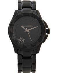 Karl Lagerfeld Wrist Watch black - Lyst