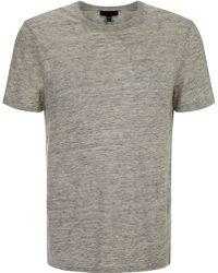 Nicole Farhi Linen T Shirt - Lyst