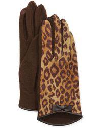 Portolano | Cashmere-blend Bow-detailed Tech Knit Gloves | Lyst