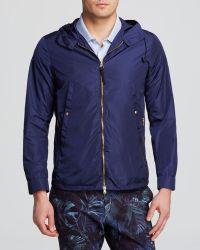 Paul Smith Blue Hooded Jacket - Lyst