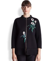 Marni Bonded Jersey Embroidered Jacket - Lyst