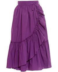 Rachel Comey Bossa Ruffled Cotton-Poplin Skirt - Lyst