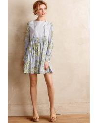 Karen Walker Pleated Greenhouse Dress green - Lyst