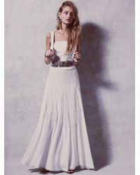 Free People Womens Abbie'S Limited Edition White Fringe Dress - Lyst