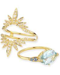 Alexis Bittar Fine - 3-in-1 Convertible London Blue Topaz & Diamond Ring - Lyst