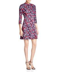 Rebecca Taylor - Mystic Mock Neck Printed Dress - Lyst