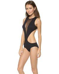 Michi Descent Bathing Suit Black - Lyst