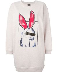 McQ by Alexander McQueen Liesa Bunny Cotton Sweatshirt Dress - Lyst