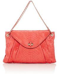 Zagliani - Python Claudia Medium Shoulder Bag - Lyst