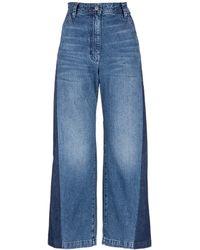 Rachel Comey   'bishop' Contrast Panel Flare Jeans   Lyst