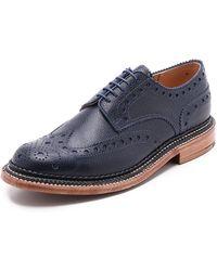 Grenson Archie Triple Welt Wingtip Oxford Shoes - Lyst