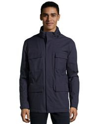 Zegna Sport - Blue Water Resistant Hooded Trench Coat - Lyst