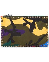 Valentino - Rockstud Camouflage Pouch - Lyst