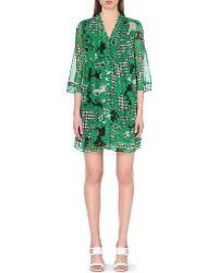Diane von Furstenberg Layla Printed Silk-Chiffon Dress - For Women - Lyst
