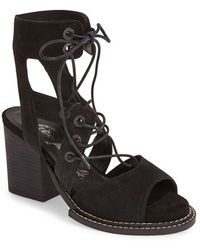 Free People Suede Ankle Strap Sandal - Lyst