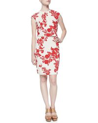 Tory Burch Lydie Flora-print Layered Top Dress - Lyst