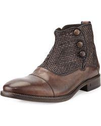 John Varvatos Fleetwood Button Boot - Lyst