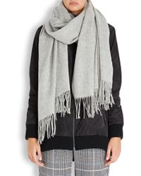American Vintage - Heather Grey Wool Scarf - Lyst