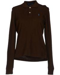 Ralph Lauren Green Polo Shirt - Lyst