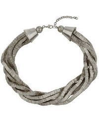 Topshop Twisted Statement Collar silver - Lyst