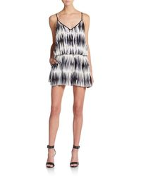 Milly Fly Away V-Neck Silk Short Jumpsuit - Lyst