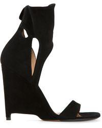 Agnona | Cut Out Wedge Sandals | Lyst
