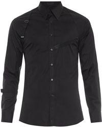 Alexander McQueen Harness Cotton-Blend Shirt - Lyst