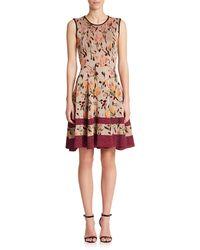 Missoni Metallic Floral Knit Dress multicolor - Lyst
