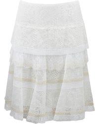 Nina Ricci Lace Tier Skirt - Lyst