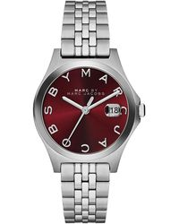 Marc By Marc Jacobs 30mm The Slim Stainless Watch with Bracelet Red Dial - Lyst